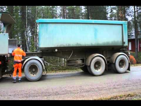 Gravel-transport in Finland (Suomussalmi)