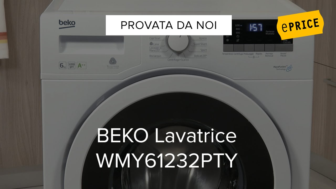 Video Recensione Lavatrice Beko WMY861232PTY - YouTube
