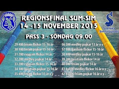 Sum-Sim Reg 2015 Härnösand - Pass 3