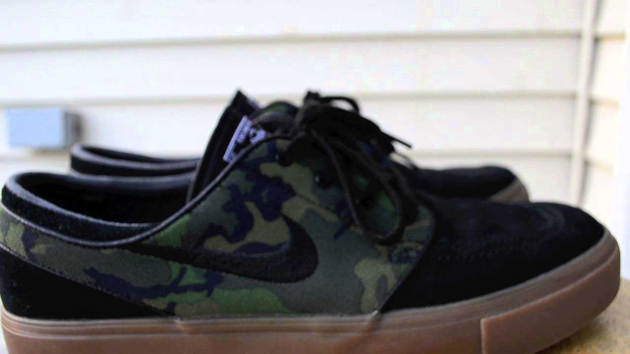 Nike SB Stefan Janoski Camo Gum Shoe Review + On Feet - YouTube e20a6ef9b