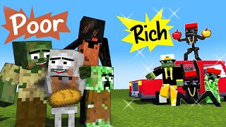 TOUCHING STORY - POOR VS RICH MONSTERS - MINECRAFT MONSTER SCHOOL