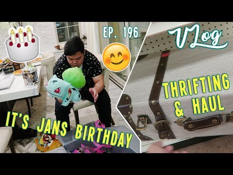 THRIFTING, HAUL, & JANS BIRTHDAY UNBOXING | VLOG EP. 196