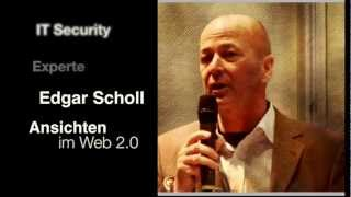 IT Sicherheitsexperte Edgar Scholl gibt Moderator Harry Flint seine Ansichten im Web 2.0