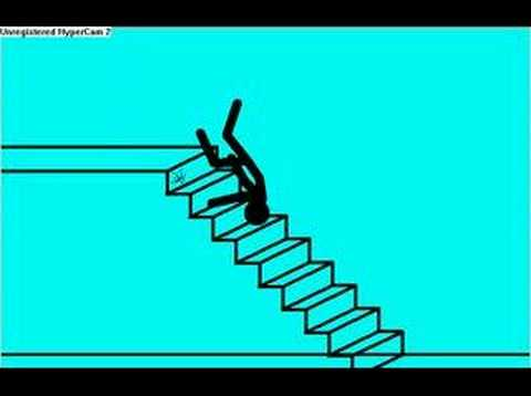 Stick Figure Falls Down Stairs Youtube