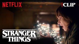 Joyce Christmas Lights Scene (Winona Ryder) | Stranger Things | Netflix