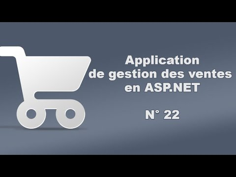Tutoriel ASP.NET -22- : (Gestion Des Ventes) Creation de la class Article.