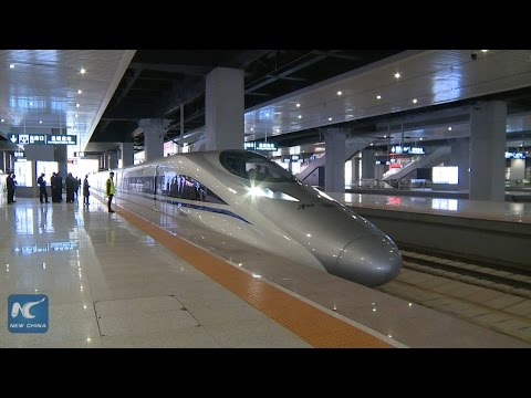 Longest high-speed train service launched in China