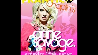 Frantik Presents - Anne Savage @ Chaplins Aberdeen 25/8/2012