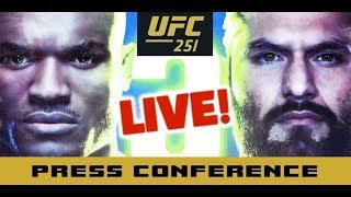 UFC 251 Post-Fight Press Conference: Kamaru Usman vs Jorge Masvidal  | LIVE