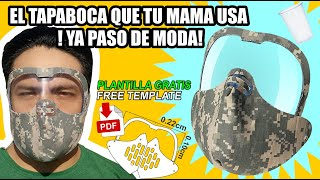 TAPA BOCA CON PROTECTOR DE OJOS MODERNO Y SIN COSTURA - mouth cap with eye protector - 护眼套