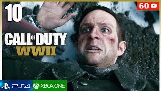 CALL OF DUTY WW2 Mision 10 Gameplay Español PS4 | Campaña Completa Parte 10 (1080p 60fps)
