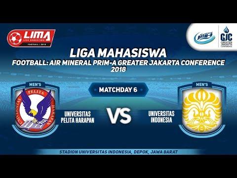 UNIV. PELITA HARAPAN VS UNIV. INDONESIA LIMA FOOTBALL AIR MINERAL PRIM-A GJC  : 28 AGUSTUS 2018