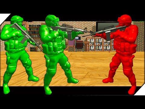 БИТВА ИГРУШЕЧНЫХ СОЛДАТ В КОМНАТЕ - War Of Toys Война игрушек солдатиков