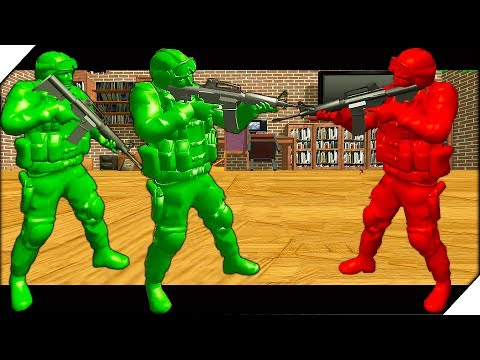 БИТВА СОЛДАТ В КОМНАТЕ - War Of Toys Война игрушек солдатиков - Видео онлайн