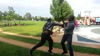 Boxer Wearing Mma Gloves Vs A Thug Street Fight