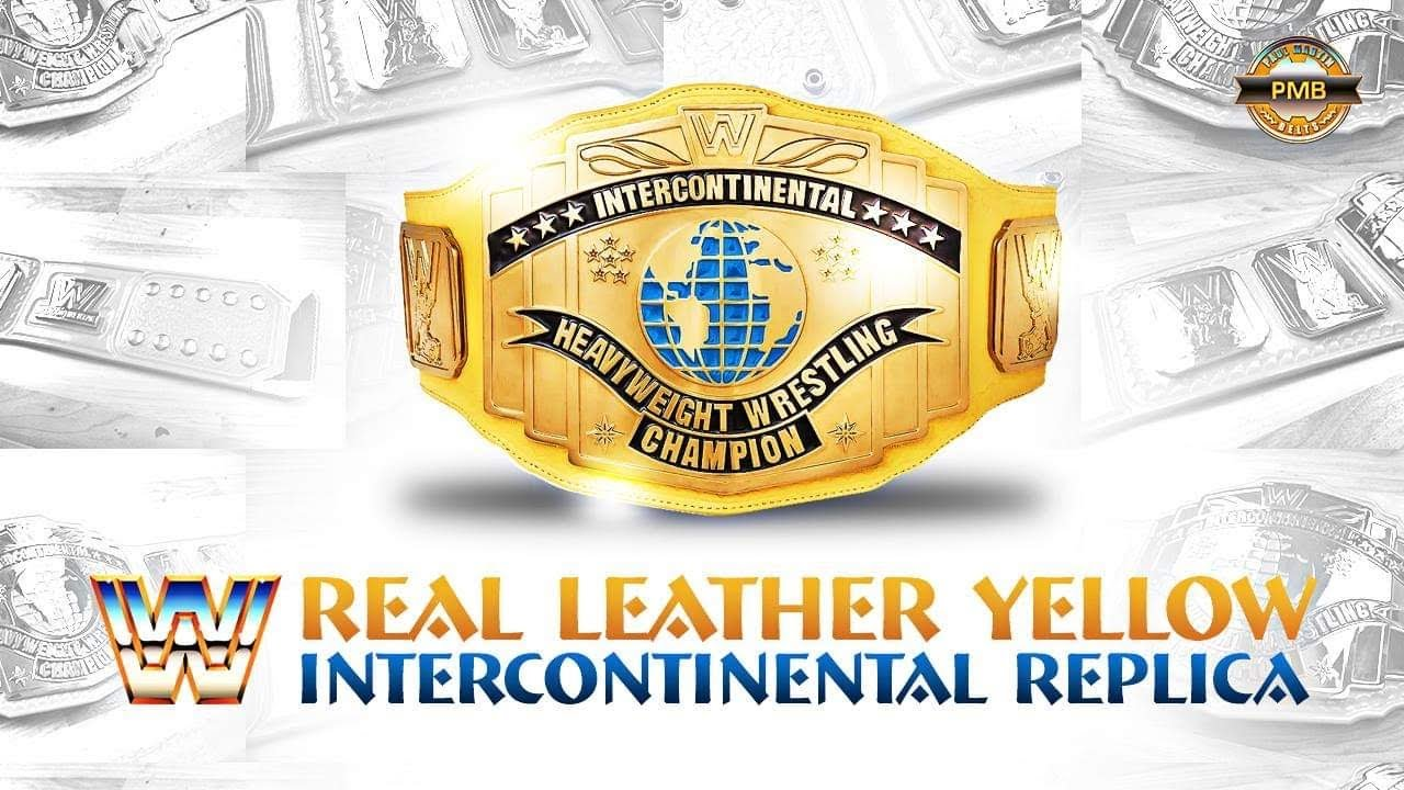 Real Leather Yellow Intercontinental Classic Replica Belt