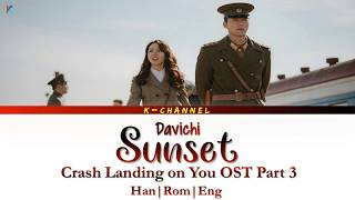 Sunset 노을 Davichi 다비치 Crash Landing on You OST Part 3 Lyrics