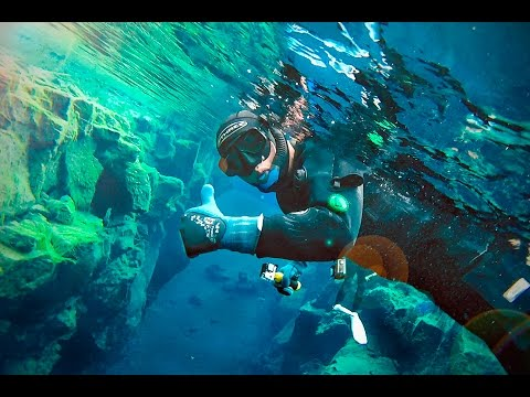 ICELAND with a DRONE and UNDERWATER!!!! AMAZING SIGHTS