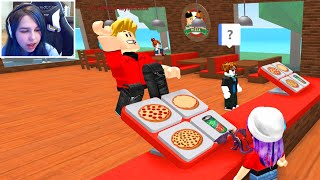 ROBLOX WORK AT A PIZZA PLACE | RADIOJH GAMES & GAMER CHAD | FACECAM