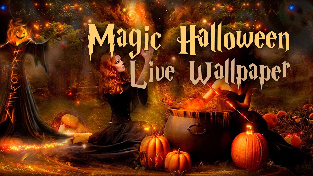 magic halloween free lwp | live wallpapers | android - youtube