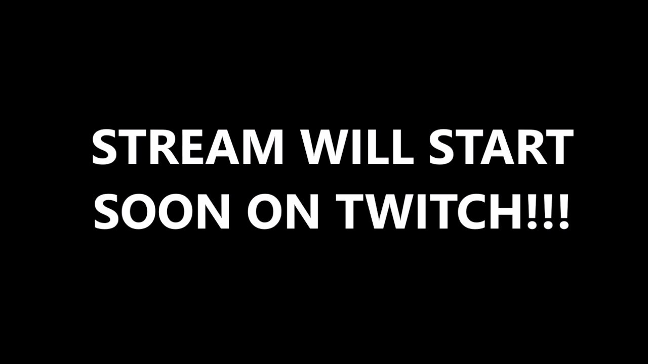 stream will start soon template pdf