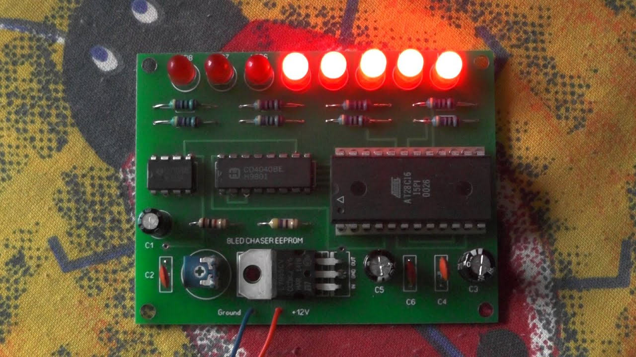 8 Led Chaser Eeprom Youtube Electronic Circuits For Beginners