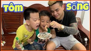 Sơn Sói TV | Thử Thách Lần Đầu Ăn Tôm Sống Tái Chanh ( Live shrimp with lemon )