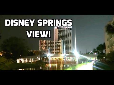 Hilton Orlando Buena Vista Palace Room Tour   Disney Springs View