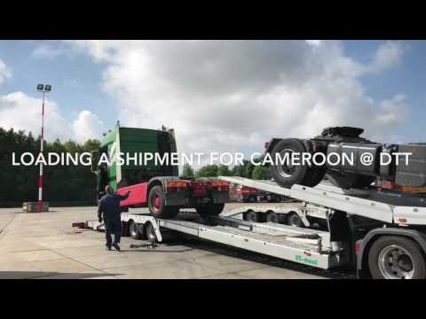 Loading a shipment for Cameroon