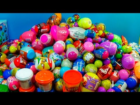 458 surprise eggs!!!MEGA Collection Disney Cars MARVEL SPIDER MAN Hello Kitty SpongeBob mymillionTV