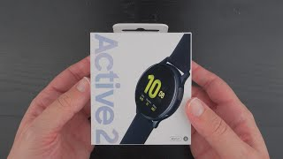 "Samsung Galaxy Watch Active 2 Unboxing (40mm ""Aqua Black"" Aluminum)"