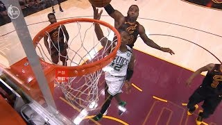 LeBron James OWNS Terry Rozier With The Superman Chasedown Block!