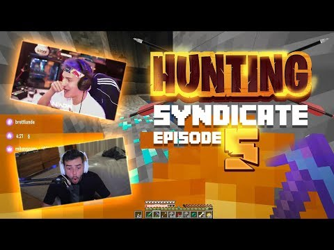 NINJA JOINS THE HUNT!! HE RAGES AFTER I LOSE EVERYTHING! (Hunting Syndicate Minecraft Series) - Ep.5