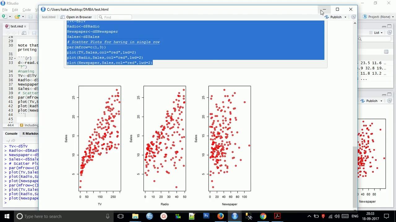 R Markdown in R Studio| Export Code with Result in HTML WORD PDF| explain  code with result in PDF