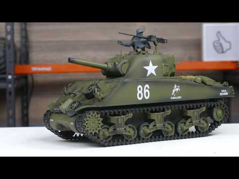 Heng Long M4A3 Sherman Airsoft RC Tank Unboxing