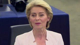 Ue, la neoeletta presidente della Commissione von der Leyen:
