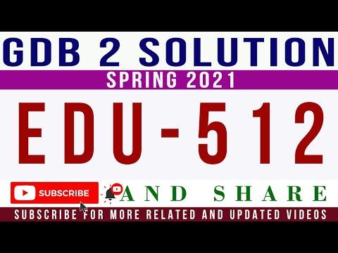 EDU512 GDB Idea Solution Spring 2021    EDU512 GDB ...