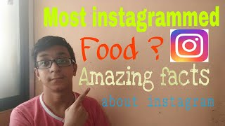 Most instagrammed food ? By Chaitanya  | Amazing facts about instagram you should know