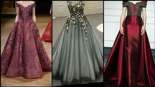 Gorgeous And Elegant Embellished Floor Length Tulle Gown Design/Maxi Dress Design