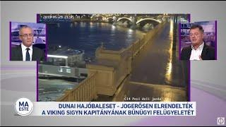 Dunai hajóbaleset - jogerősen elrendelték a Viking Sigyn kapitányának bűnügyi felügyeletét