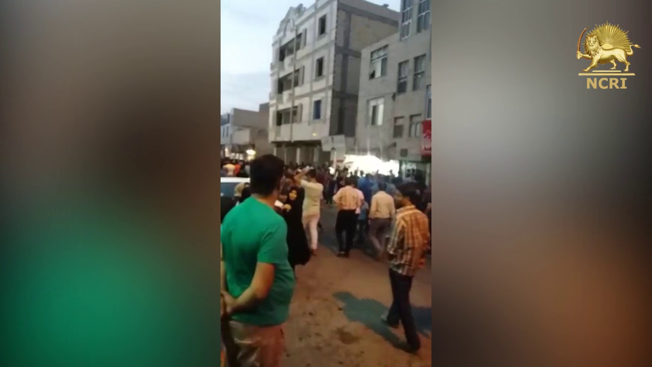 "KERMANSHAH, #Iran. August 3, 2018. Protesters chanting: ""Mullahs must get lost"""