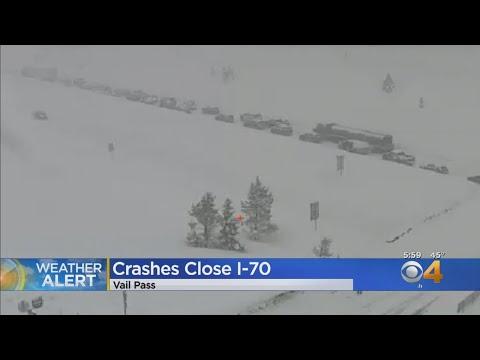 Crashes Close I-70 At Vail Pass