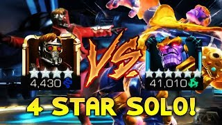 4 Star Solo vs Infinity Gauntlet Thanos! 1 Shot with Star-Lord!