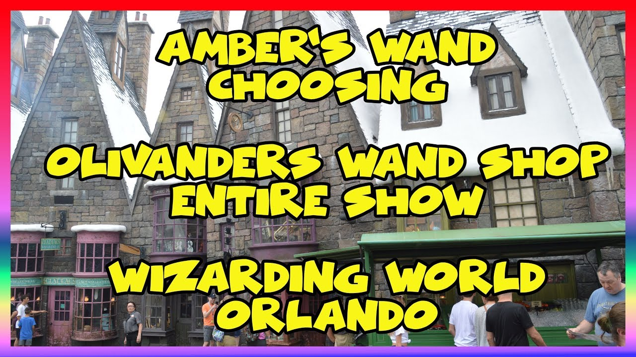 Tv Wand Joop Amber S Wand Choosing At Olivander S Wand Shop Entire Show Wizarding World Of Harry Potter Orlando