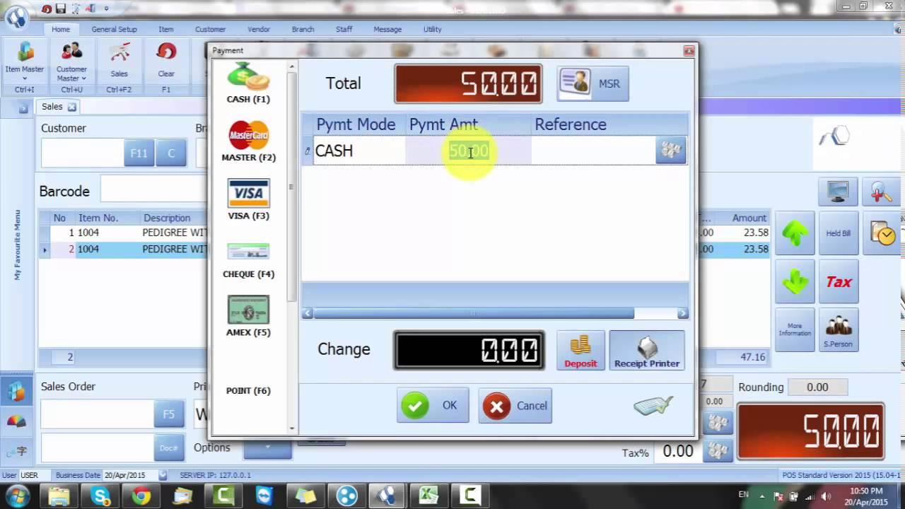 2 2 5 Irs Software Online Training How To Create Deposit