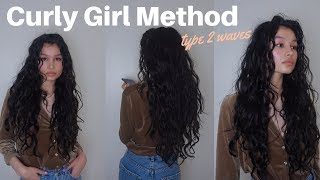 curly girl method routine // type 2 wavy hair // affordable