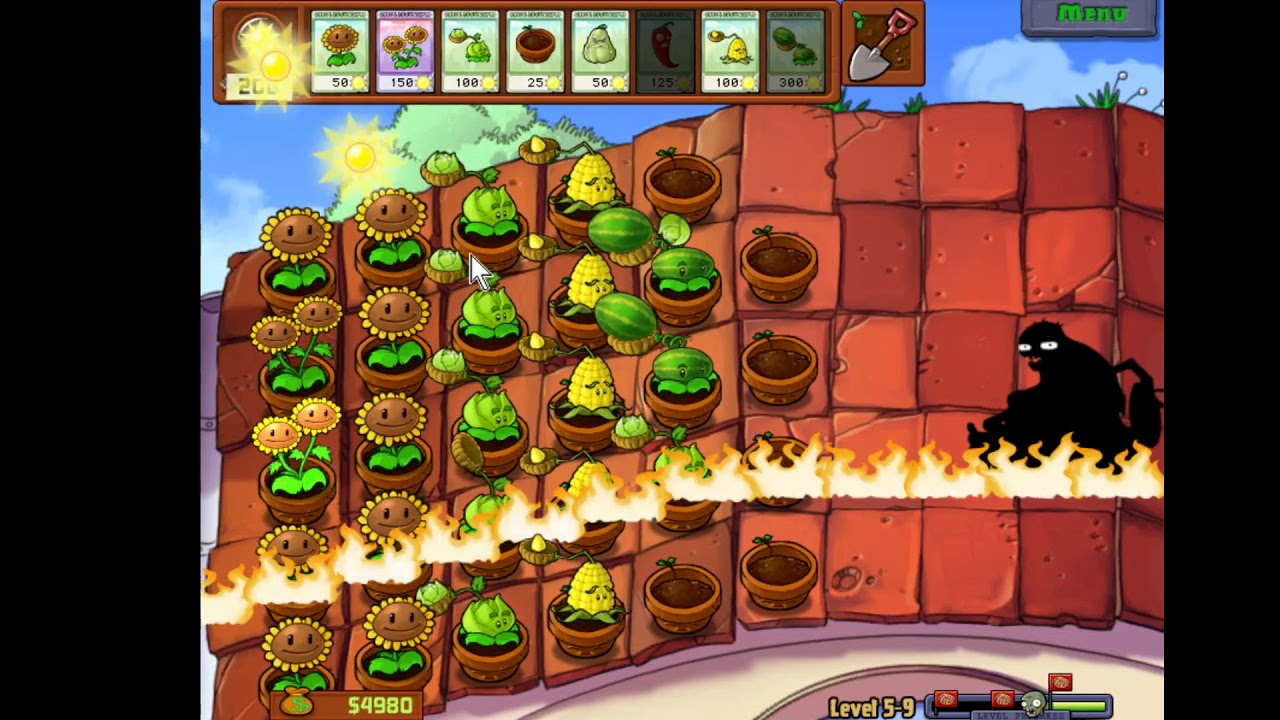 Plant vs Zombies Level 5-9