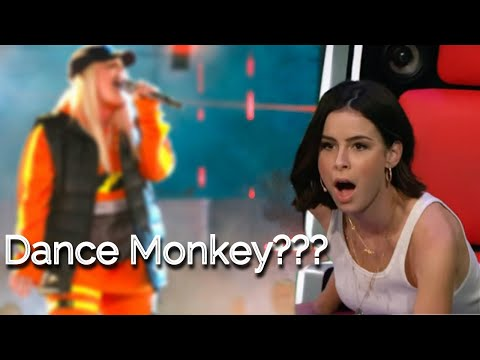 BEST DANCE MONKEY covers in The Voice   Blind Auditions   TONES AND I