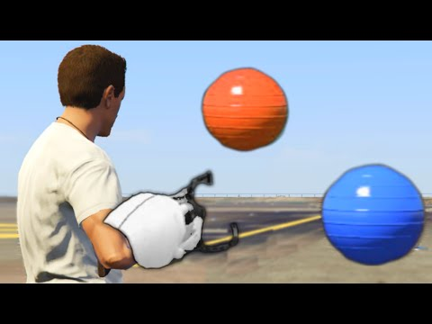 PORTAL GUN MOD! (GTA 5 Mods Funny Moments)