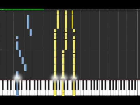 Cant Stop - Red Hot Chili Peppers(Easy Piano Tutorial) in Synthesia (100% speed)
